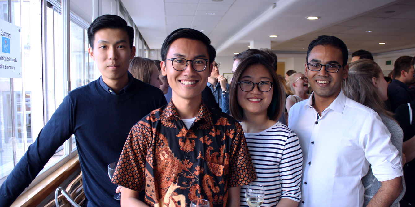 New students at our MSc welcome reception
