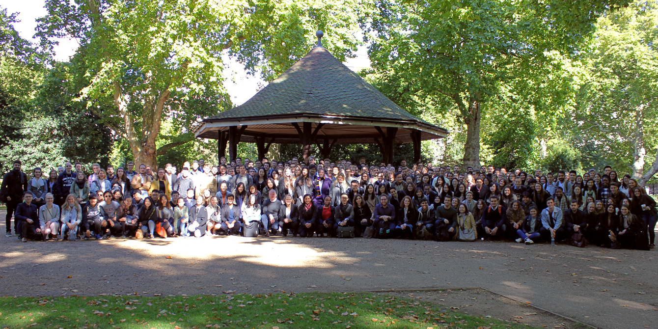 Our new MSc students pose for a group photo in Lincoln's Inn Fields
