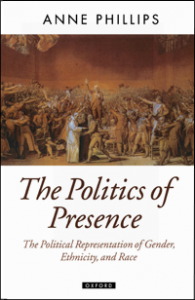 The front cover of Anne's book 'The Politics of Presence'