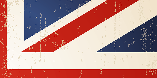 Abstract image of the British flag