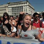 Greek demonstrators protest against the imposition of austerity, a photo by Pan-African News Wire File Photos on Flickr.