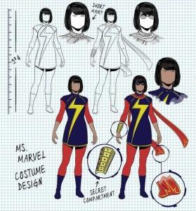 Ms. Marvel costume design by Jamie McKelvie. Marvel Comics.