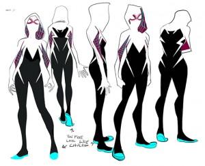 Spider Gwen redesign by Robbi Rodriguez. Marvel Comics.