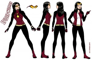 Spider Woman redesign by Javier Rodriguez. Marvel Comics