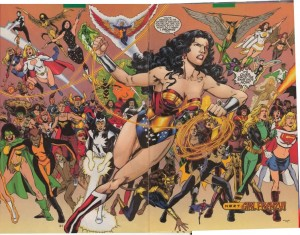 Wonder Woman during the Jimenez era.