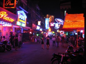 Bright lights in Thailand's nightlife district