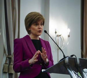 Nicola Sturgeon speaking at the Scottish Women's Aid conference in Edinburgh on 26 March 2015