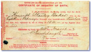 1912_Birth_Certificate_Ken_Baker