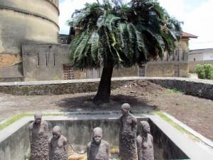 A memorial to slavery in Stone Town, Zanzibar.