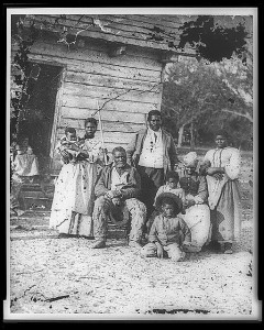 Four generations of a family on a plantation in Beaufort, South Carolina (1862). Image source: Library of Congress