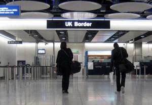 U.K. Border Agency at London Heathrow Airport.