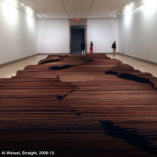 'Straight', by Ai Weiwei.
