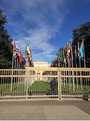 UN Headquarters in Geneva. Photo credit: F. DInshaw.