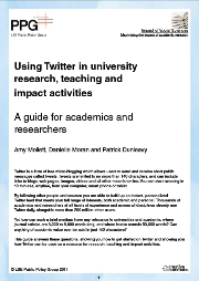 Guide to using Twitter in university research, teaching, and impact activities