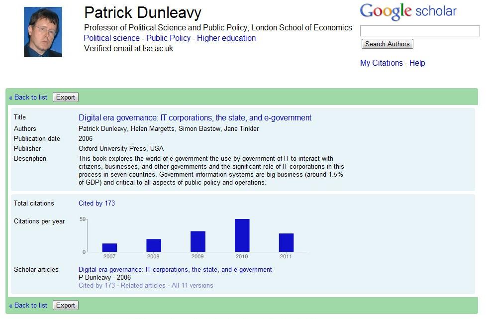 Google scholar papers
