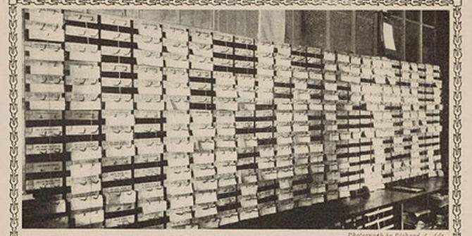 Planning_department_bulletin_board,_1911