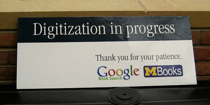 google books digitization