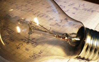 lightbulb writing