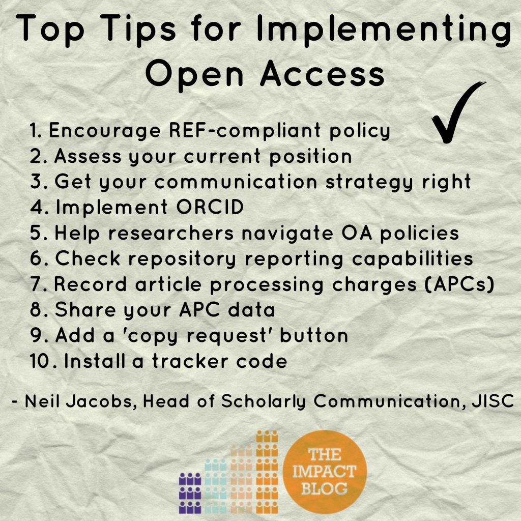 top tips open access logo