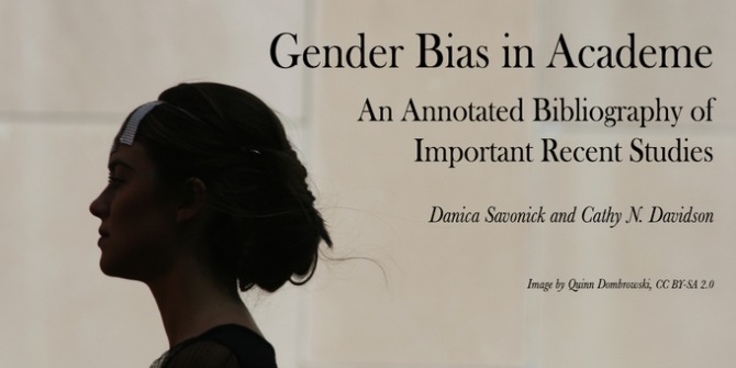 Gender Bias in Academe: An Annotated Bibliography of Important Recent Studies
