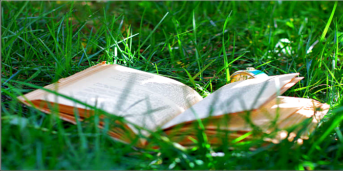 Green open book