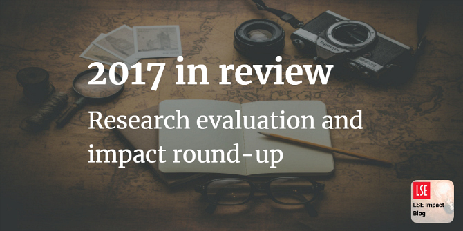2017 in review: round-up of our top posts on research evaluation and impact