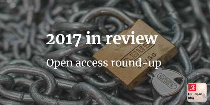 2017 in review: round-up of our top posts on open access