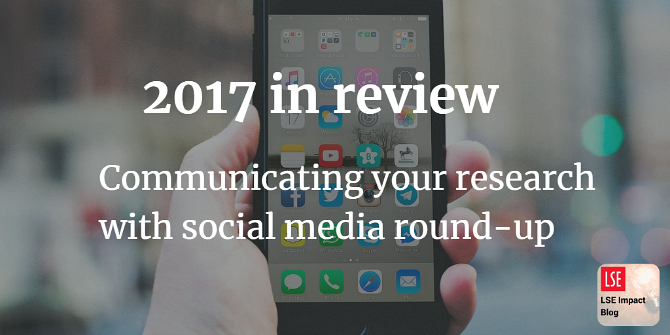 2017 in review: round-up of our top posts on communicating your research with social media