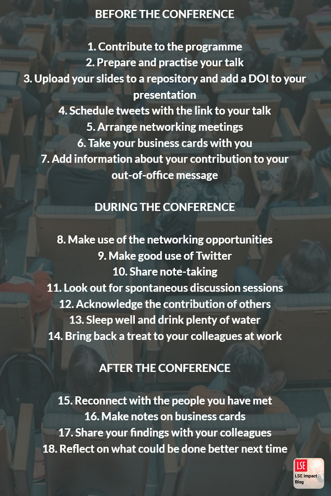 how to make the most of an academic conference  u2013 a