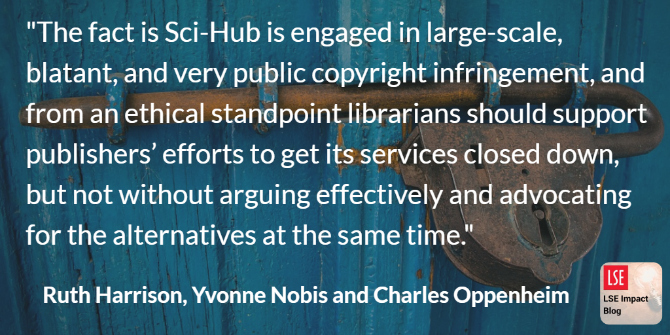 A librarian perspective on Sci-Hub: the true solution to the