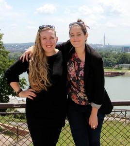 Melissa Carr and Ali Rae in Belgrade