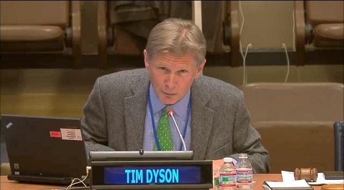 Tim Dyson UN Webcast