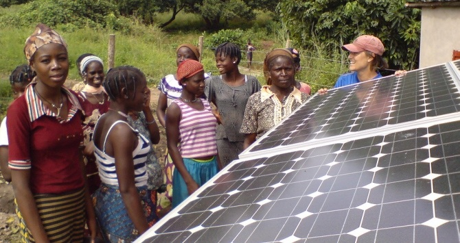Bessasse Panels, by the Solar Electric Light Fund, via Flickr: https://www.flickr.com/photos/solarelectriclightfund/3200959061/