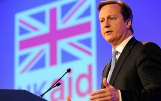 David Cameron UK Aid