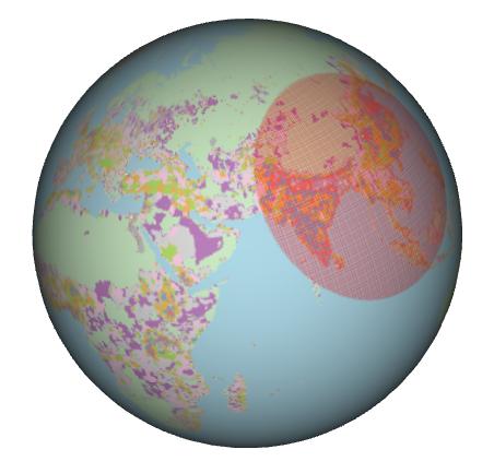 Population Density Globe