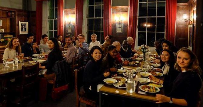 LSE MSc Development Studies Students enjoy dinner at Cumberland Lodge