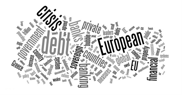 Euro Debt Crisis Word Cloud. Photo credit EuroCrisisExplained .co.uk via Flickr Licence: CC BY 2.0