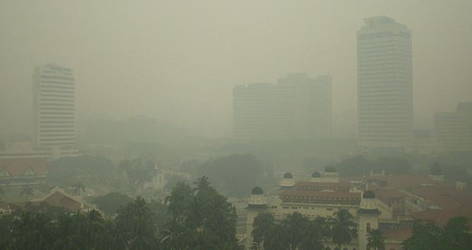 Haze in Kuala Lumpur (courtesy of Wikimedia)