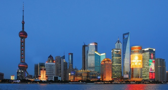 SShanghai skyline at night. Image copyright hbieser via Asia House