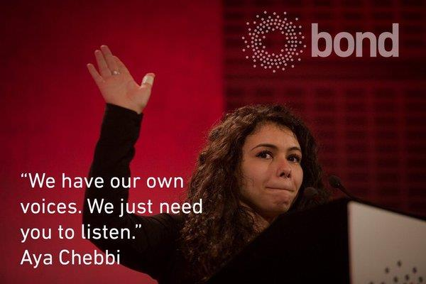 Aya Chebbi quote Bond Conference 2016
