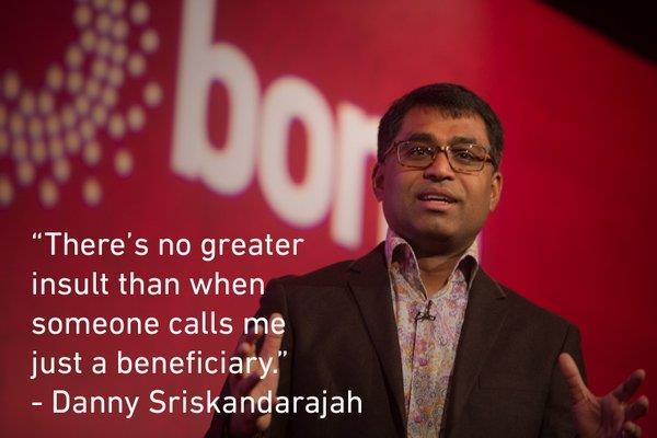 Danny Sriskandarajah quote Bond Conference 2016