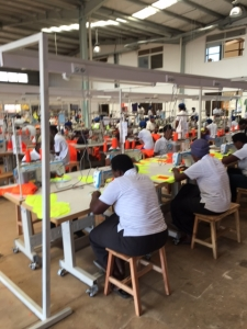 The C&H Garments factory in Rwanda