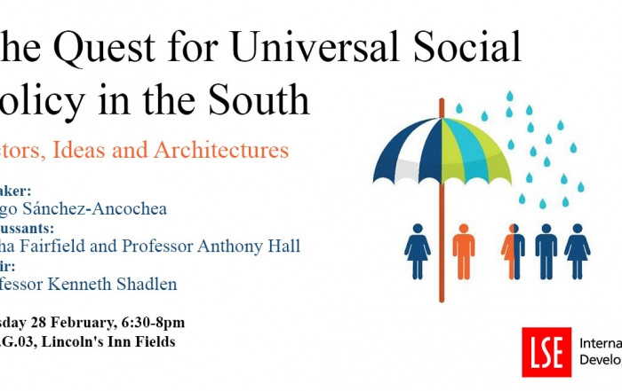 Book Launch: The Quest for Universal Social Policy in the South