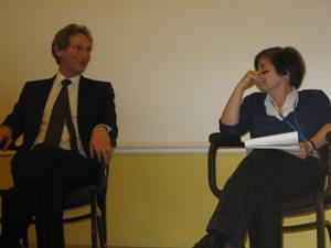 Dr David Rodin with Professor Kim Hutchings