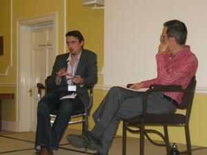 Mr Ben Shepherd (left) with Lars Waldorf
