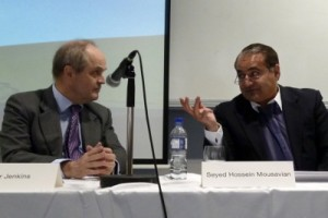 Peter Jenkins (L) and Seyed Hossein Mousavian (R)