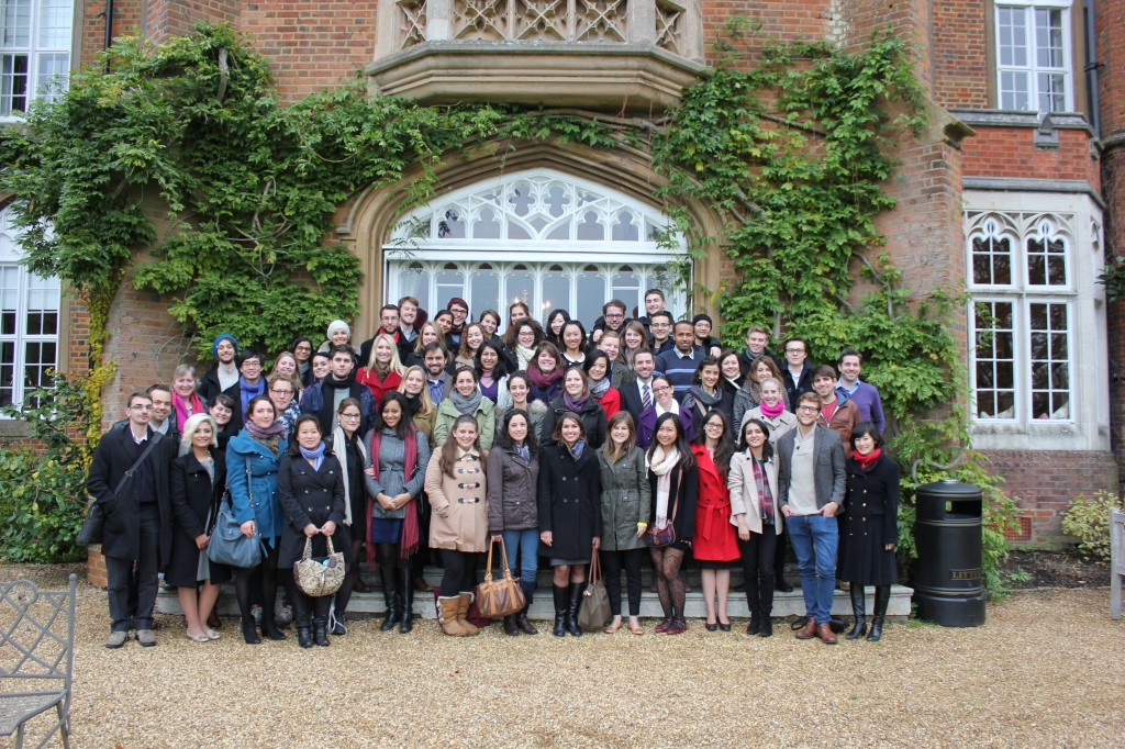 Conference participants in front of Cumberland Lodge, November 2013
