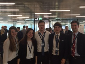 The team on the final day after the competition. From left to right: Michelle Ryan, Ketevan Papashvili, Thomas Boley, Peter Yates, Andre Nakazawa (coach)