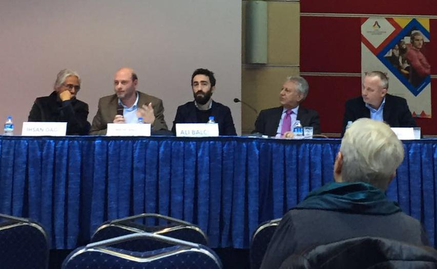 L to R: Ihsan Bagi, Michelangelo Guida, Ali Balci, the chair: Professor Ihsan Sezal, TOBB University, Gokhan Bacik