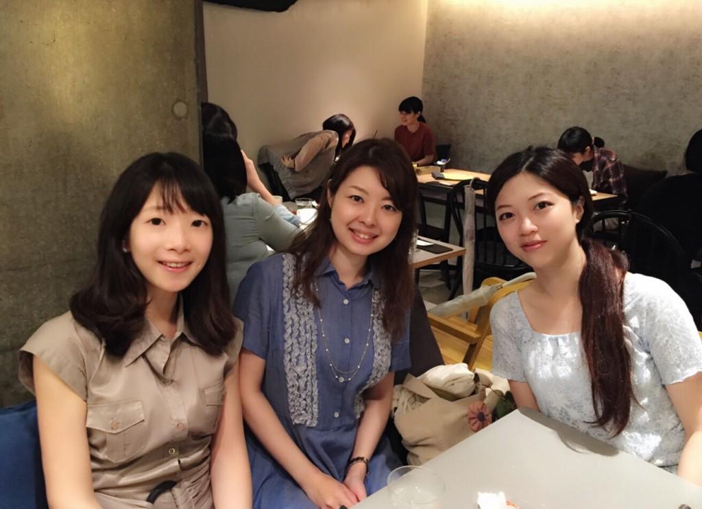 L to R: Sohyun Lee (current LSE exchange student), Mina Chiba (Waseda University exchange student this year), Yao Yang (next year's Waseda University exchange student).
